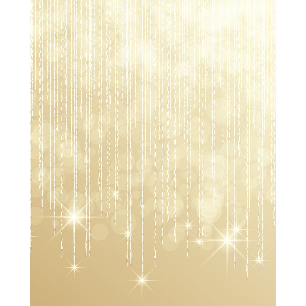 Falling Gold Stars Printed Backdrop Backdrop Express