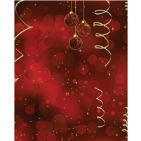 Christmas Ornaments Printed Backdrop