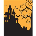 House on Haunted Hill Printed Backdrop
