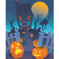 Monster House Printed Backdrop