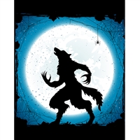 Howling Werewolf Printed Backdrop