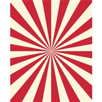 Circus Stripes Printed Backdrop