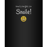 """Don't Forget to Smile""  Printed Backdrop"