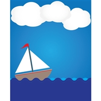 Sailing Boat  Printed Backdrop