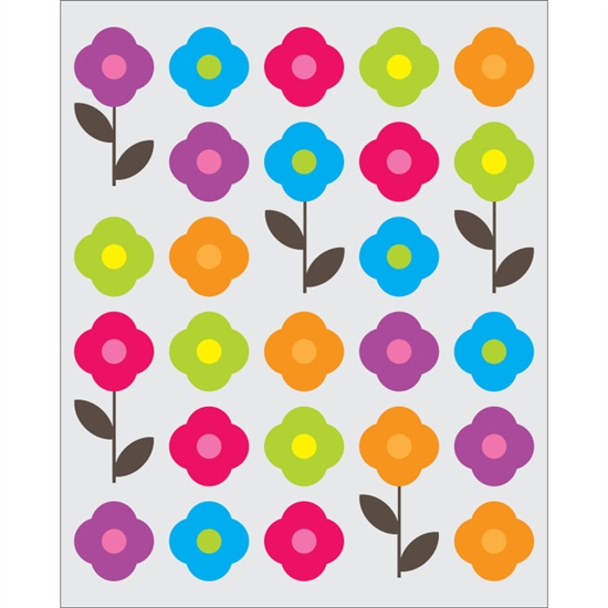 Colorful Flowers on Cream Printed Backdrop