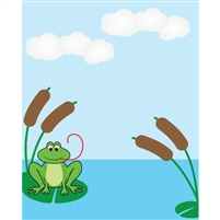 Frog on a Pond Printed Backdrop