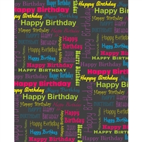 Happy Birthday Collage Printed Backdrop