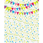 Birthday Banners & Confetti Printed Backdrop