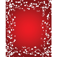 Speckled Valentine Hearts Printed Backdrop