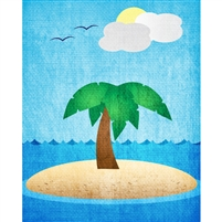 Deserted Island Printed Backdrop