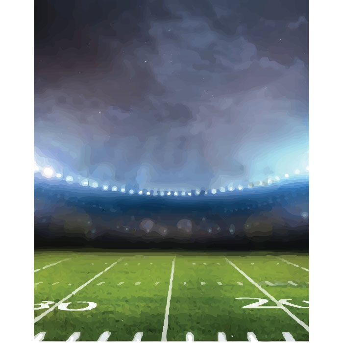 Surreal Football Field Printed Backdrop Backdrop Express