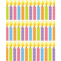 Birthday Candles Printed Backdrop