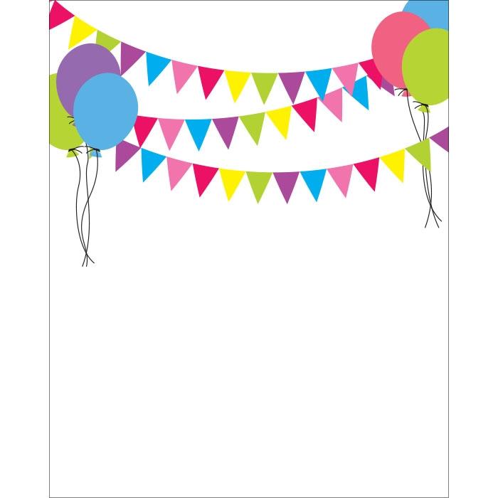 Birthday Banners & Balloons Printed Backdrop