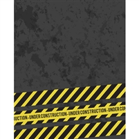 Road Construction Printed Backdrop