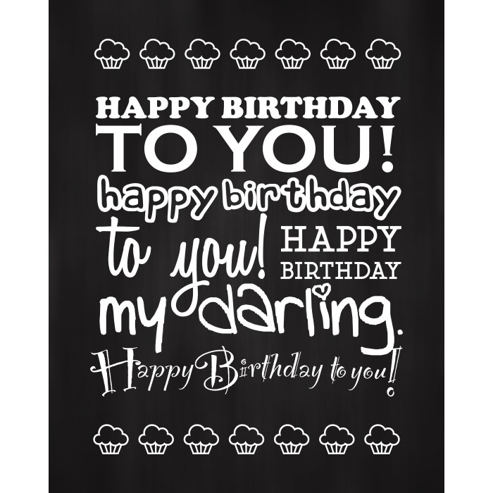 Happy Birthday To You Printed Backdrop Backdrop Express