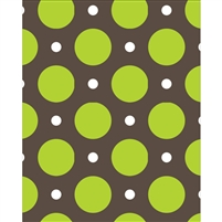 Green & White Polka Dots Printed Backdrop