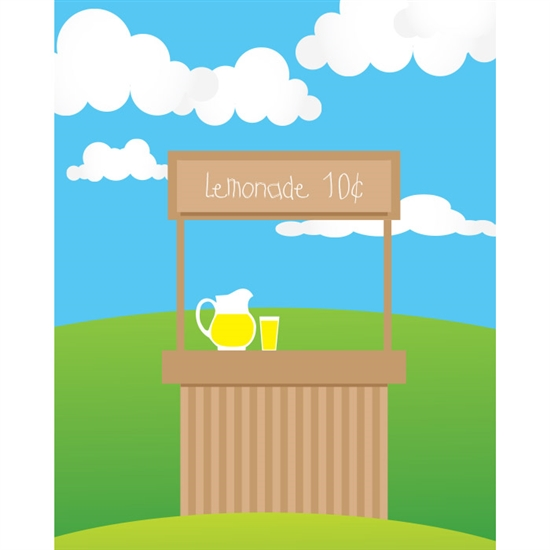 Lemonade Stand Printed Backdrop Backdrop Express