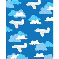 Flying Planes Printed Backdrop