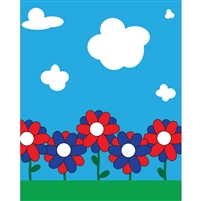Field of Flowers Printed Backdrop