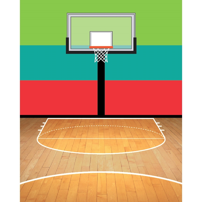Half Court Printed Backdrop Backdrop Express