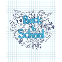 Back to School Grid Printed Backdrop