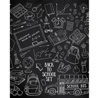 Back to School Chalkboard Printed Backdrop