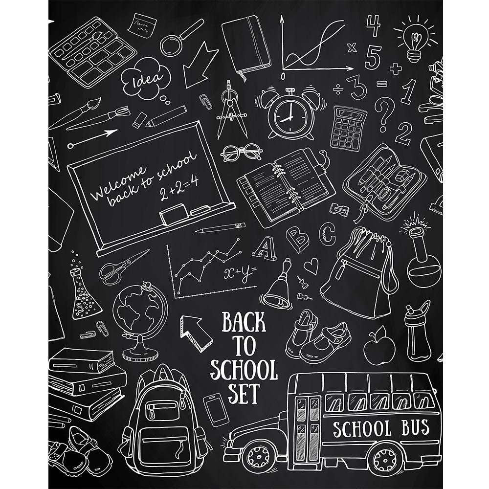 Back To School Chalkboard Printed Backdrop Backdrop Express