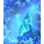 Frozen Castle Printed Backdrop