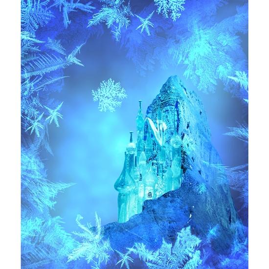 Frozen Castle Printed Backdrop Backdrop Express
