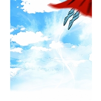 Flying Superhero Printed Backdrop