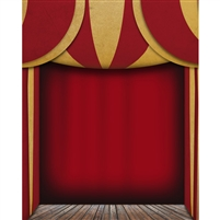 Circus Stage Printed Backdrop