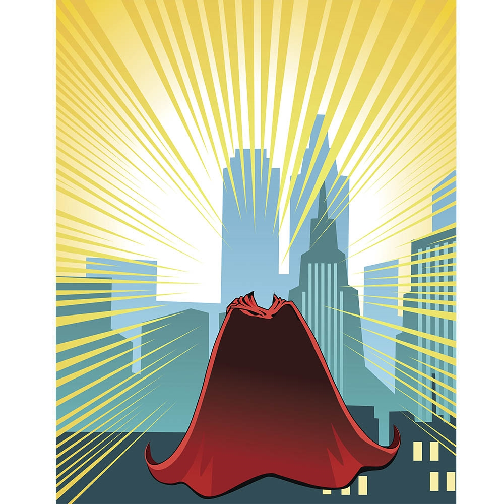 Superhero Cape Printed Backdrop Backdrop Express