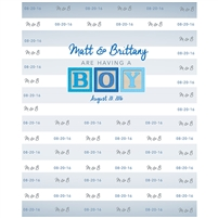 Baby Boy Announcement Printed Backdrop
