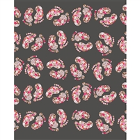 Floral Footprints Printed Backdrop