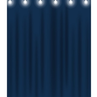 Blue Stage Curtain Printed Backdrop