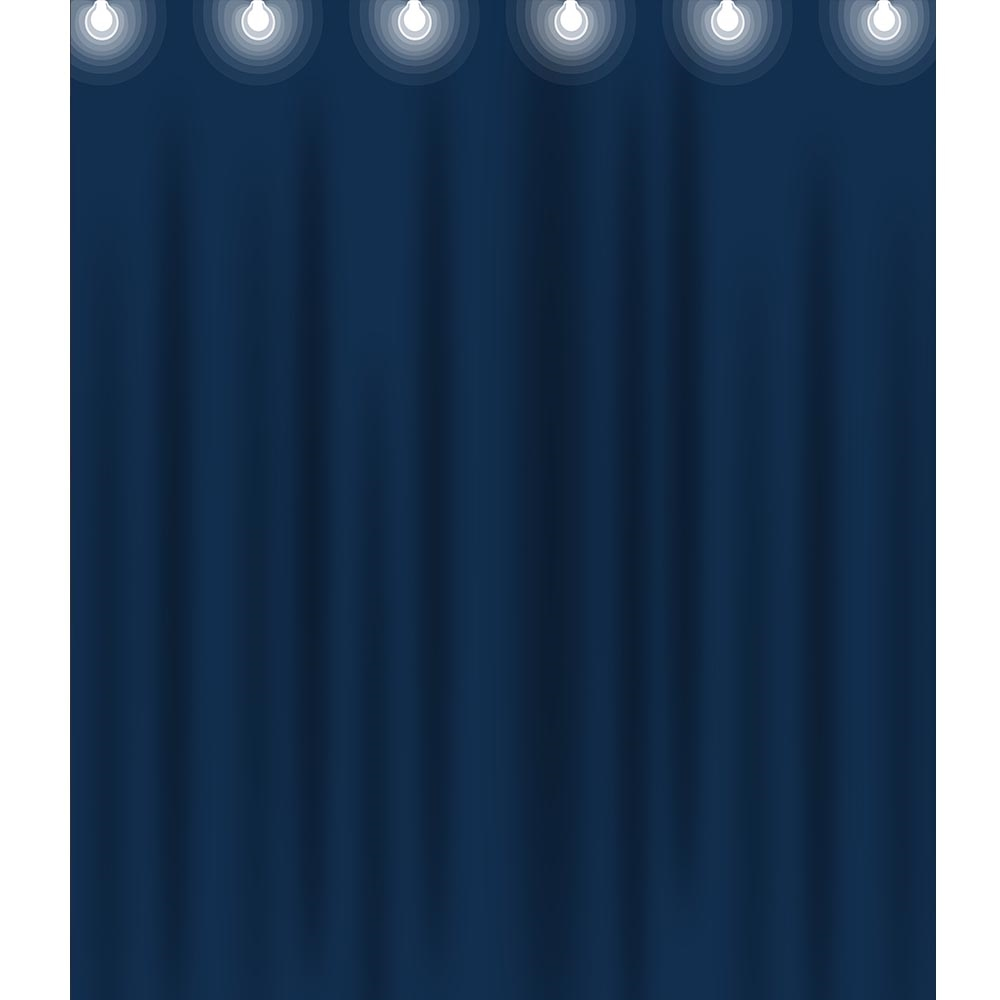 Blue Stage Curtain Printed Backdrop Backdrop Express