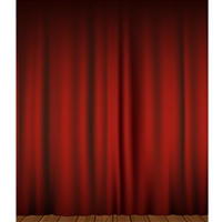 Red Curtains Printed Backdrop