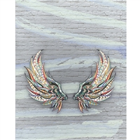 Patterned Wings Printed Backdrop