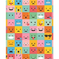 Emoji Blocks Printed Backdrop