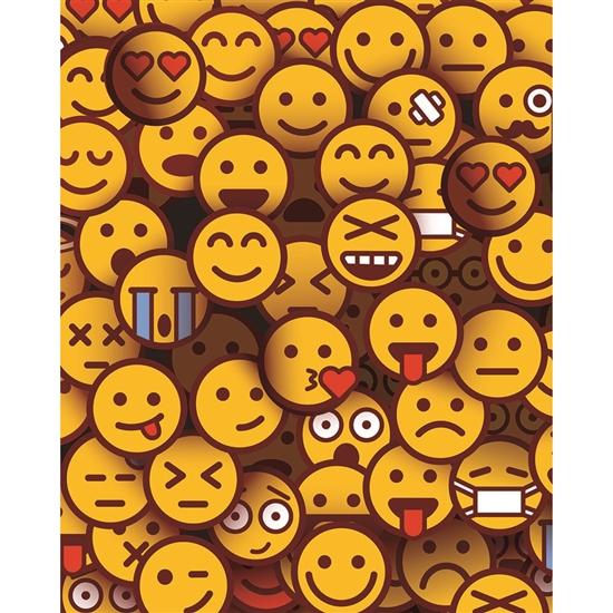 Emoji Crowd Printed Backdrop Backdrop Express