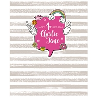 Custom Birthday Message Printed Backdrop