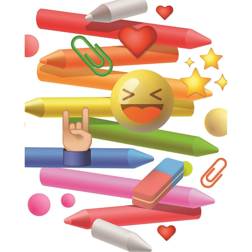 School Emoji Printed Backdrop Backdrop Express