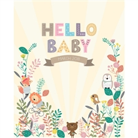 """Hello Baby"" Printed Backdrop"