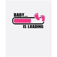 """Baby is Loading"" Printed Backdrop"