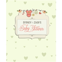 Little Birdie Baby Shower Printed Backdrop