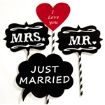 Just Married Photo Booth Props