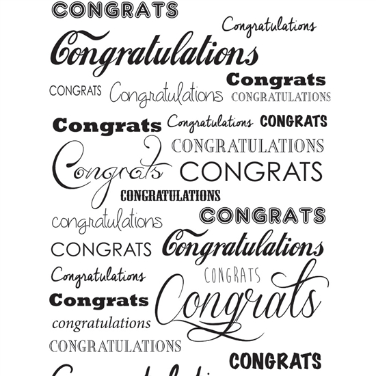 Congratulations Printed Seamless Paper Backdrop Express