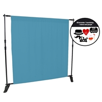 Teal Fabric Photo Booth Kit