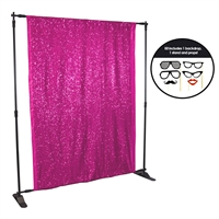 Raspberry Sequin Photo Booth Kit