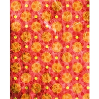 Orange Grunge Polka Dot Printed Backdrop